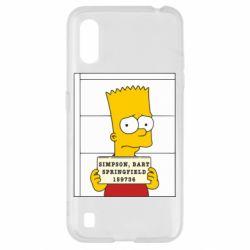 Чехол для Samsung A01/M01 Барт в тюряге