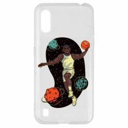 Чехол для Samsung A01/M01 Basketball player and space