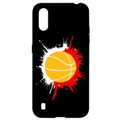 Чехол для Samsung A01/M01 Баскетбольный мяч