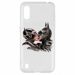 Чехол для Samsung A01/M01 Batman and Catwoman Kiss