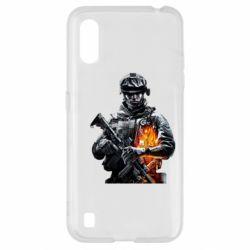 Чехол для Samsung A01/M01 Battlefield Warrior