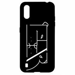 Чехол для Samsung A01/M01 Bear stripes