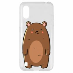 Чехол для Samsung A01/M01 Bear with a smile