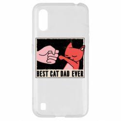 Чехол для Samsung A01/M01 Best cat dad ever