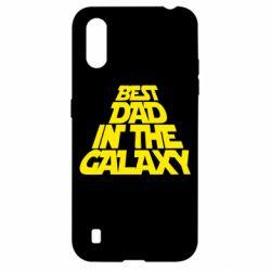 Чехол для Samsung A01/M01 Best dad in the galaxy