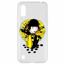 Чехол для Samsung A01/M01 Black and yellow clown