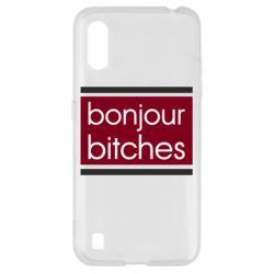 Чехол для Samsung A01/M01 Bonjour bitches