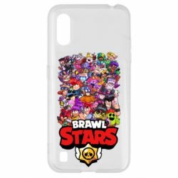 Чехол для Samsung A01/M01 Brawl Stars all characters art