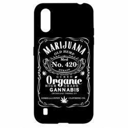 Чохол для Samsung A01/M01 Cannabis label