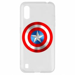 Чехол для Samsung A01/M01 Captain America 3D Shield