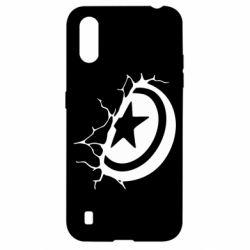 Чохол для Samsung A01/M01 Captain America shield