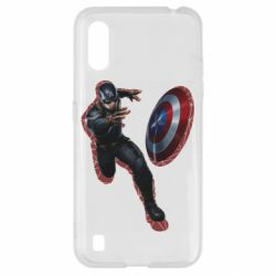 Чехол для Samsung A01/M01 Captain america with red shadow