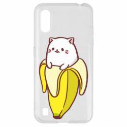 Чехол для Samsung A01/M01 Cat and Banana