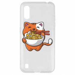 Чохол для Samsung A01/M01 Cat and Ramen