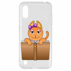 Чехол для Samsung A01/M01 Cat girl and book
