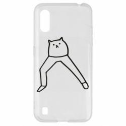 Чохол для Samsung A01/M01 Cat in pants