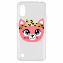 Чехол для Samsung A01/M01 Cat pink