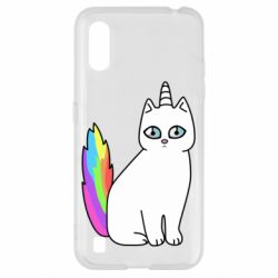 Чехол для Samsung A01/M01 Cat Unicorn