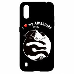 Чехол для Samsung A01/M01 Cats with a smile