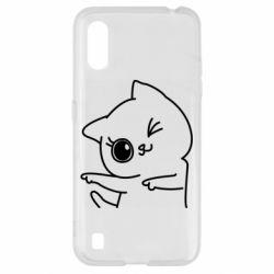Чехол для Samsung A01/M01 Cheerful kitten