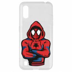 Чохол для Samsung A01/M01 Людина павук в толстовці