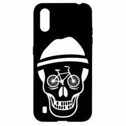 Чехол для Samsung A01/M01 Череп велосипедиста