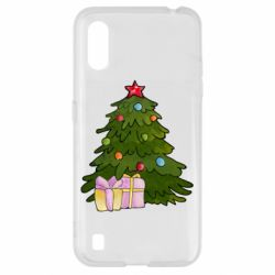 Чехол для Samsung A01/M01 Christmas tree and gifts art