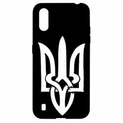Чехол для Samsung A01/M01 Coat of arms of Ukraine torn inside