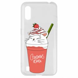 Чехол для Samsung A01/M01 Cocktail cat and strawberry