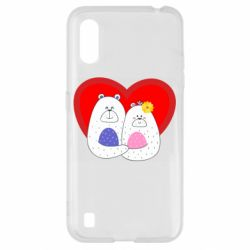 Чохол для Samsung A01/M01 Couple Bears