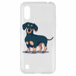 Чехол для Samsung A01/M01 Cute dachshund