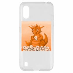 Чохол для Samsung A01/M01 Cute dragon with skulls