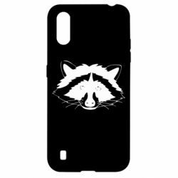 Чохол для Samsung A01/M01 Cute raccoon face
