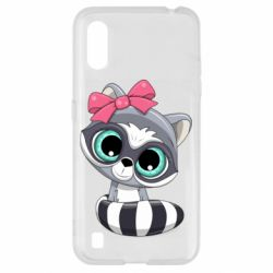 Чехол для Samsung A01/M01 Cute raccoon