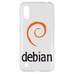 Чехол для Samsung A01/M01 Debian
