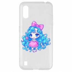 Чохол для Samsung A01/M01 Doll with blue hair