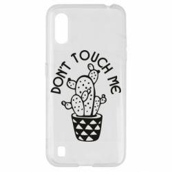Чехол для Samsung A01/M01 Don't touch me cactus