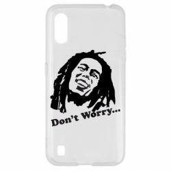 Чехол для Samsung A01/M01 Don't Worry (Bob Marley)