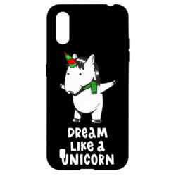Чехол для Samsung A01/M01 Dream like a unicorn