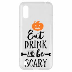 Чохол для Samsung A01/M01 Eat Drink and be Scary