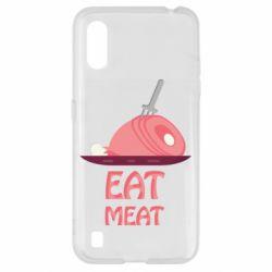 Чехол для Samsung A01/M01 Eat meat