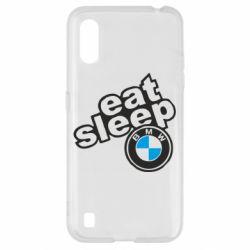 Чохол для Samsung A01/M01 Eat, sleep, BMW