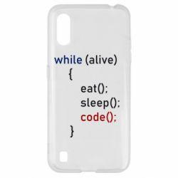 Чохол для Samsung A01/M01 Eat, Sleep, Code