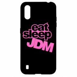 Чехол для Samsung A01/M01 Eat sleep JDM