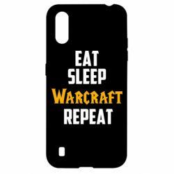 Чехол для Samsung A01/M01 Eat sleep Warcraft repeat
