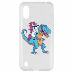 Чохол для Samsung A01/M01 Єдиноріг і динозавр