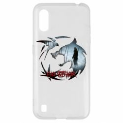 Чехол для Samsung A01/M01 Emblem wolf and text The Witcher