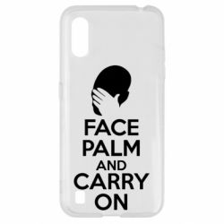 Чехол для Samsung A01/M01 Face palm and carry on