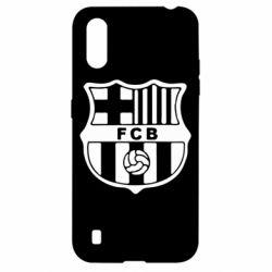 Чехол для Samsung A01/M01 FC Barcelona