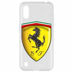 Чехол для Samsung A01/M01 Ferrari 3D Logo